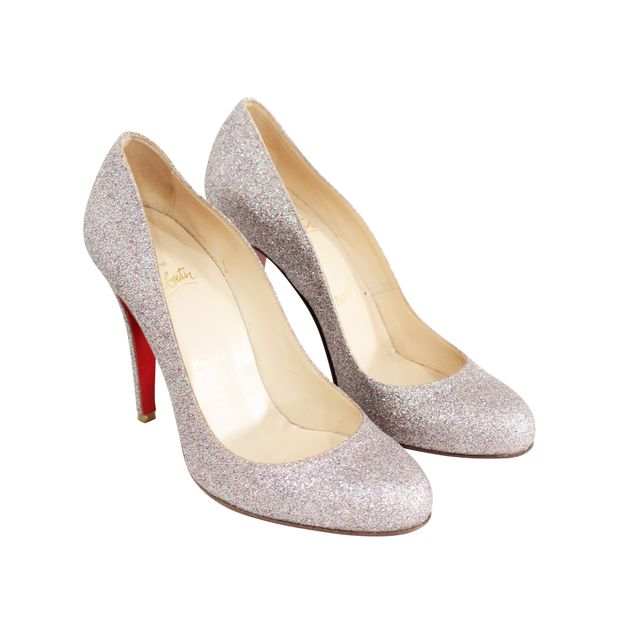 Authentic Second Hand Glitter Pumps by