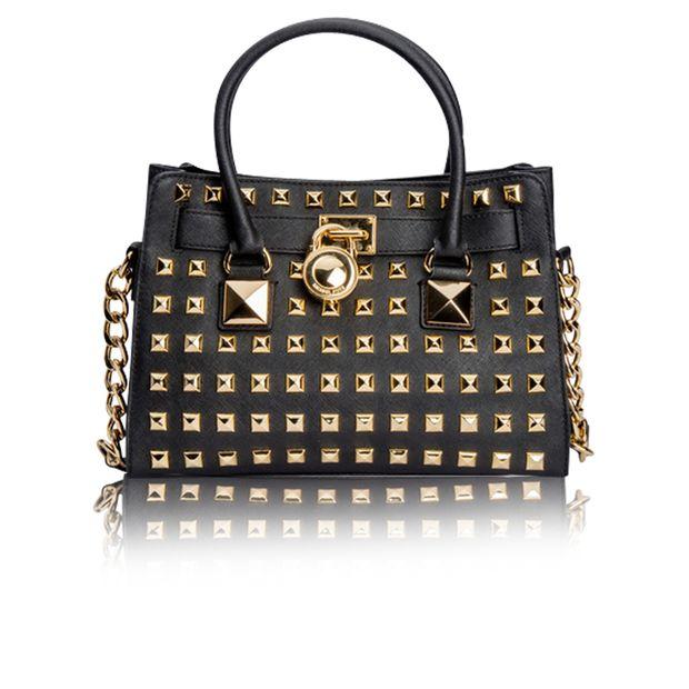 3cd741b35c61 Black Studded Hamilton Tote bag by MICHAEL KORS | StyleTribute.com