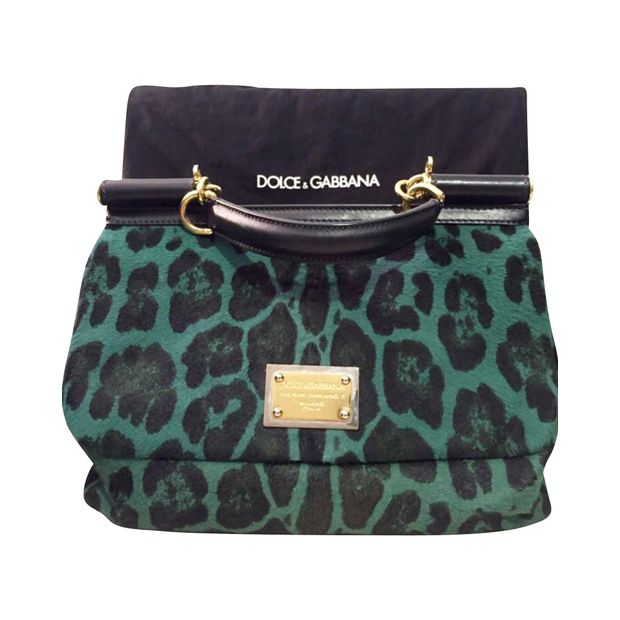 d5761bf20187 Miss Sicily Green Leopard-print Dyed calf Hair by DOLCE   GABBANA ...