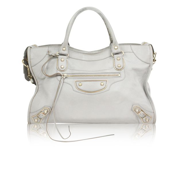 a2738f141a Light Grey Classic Metallic Edge City Bag by BALENCIAGA ...
