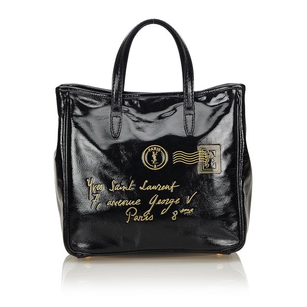 314c11f759 Patent Leather Tote Bag by YVES SAINT LAURENT