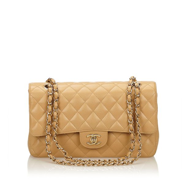 3f6ebf449712 Classic Medium Double Flap Shoulder Bag by CHANEL   StyleTribute.com
