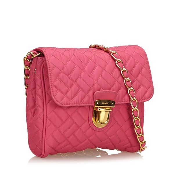 58978e384d915c Quilted Nylon Chain Shoulder Bag by PRADA | StyleTribute.com