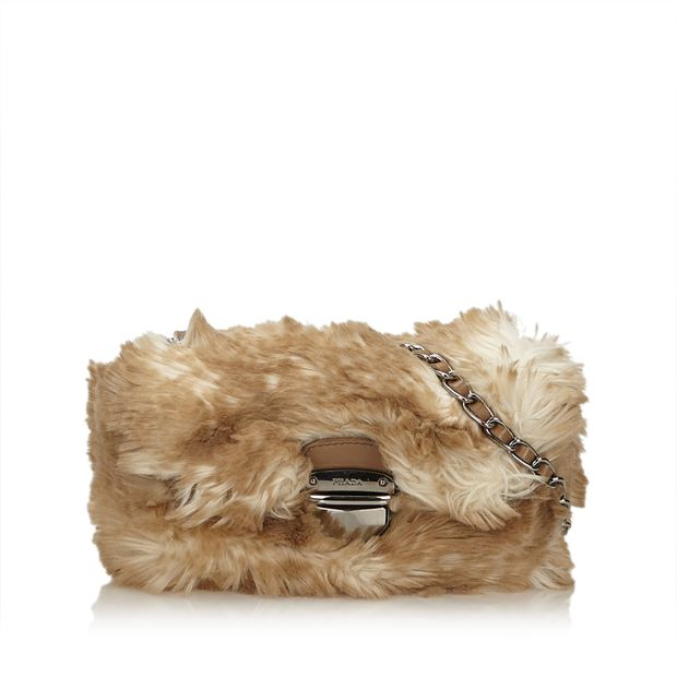 c3d75eaeb90b Faux Fur Chain Bag by PRADA | StyleTribute.com