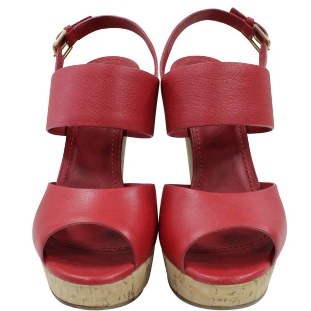 323aaf4d568 Red YSL Wedges by YVES SAINT LAURENT | StyleTribute.com