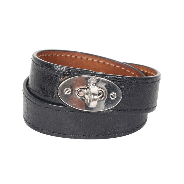 733d14e5653f3 Double Wrap Bayswater Bracelet Glossy Goat In Black