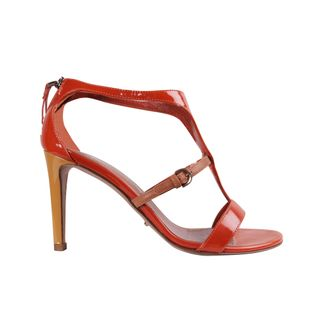 8bfb280d9983 Sergio Rossi And High Heels Sandals With Gold Furnishings Designer ...