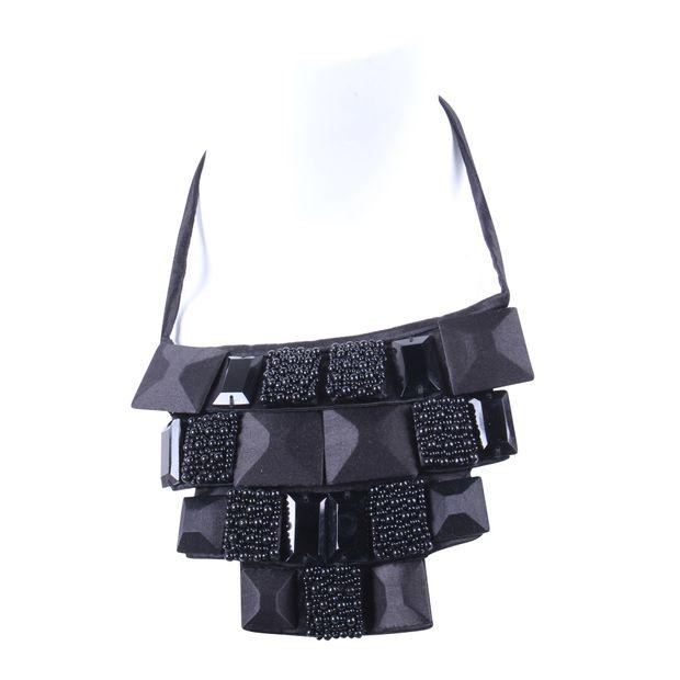8c657fb5969 Black Embellished Plastron by EMPORIO ARMANI
