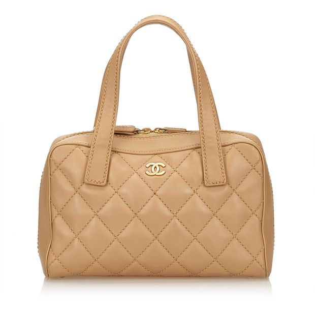 e01dcfee42ad Wild Stitch Lambskin Leather Handbag by CHANEL | StyleTribute.com