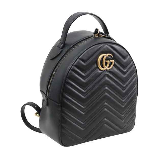 dc8d0d80f7ea1f GG Black Marmont Quilted Leather Backpack by GUCCI | StyleTribute.com
