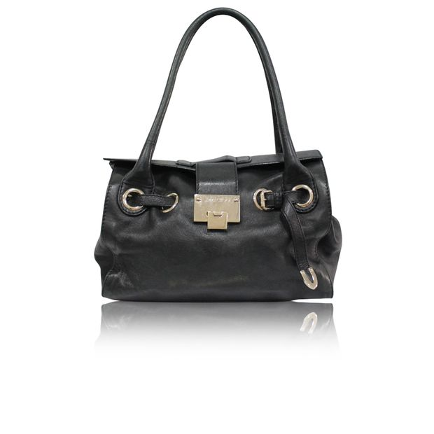 205d70fd639 Black Purse With Eyelet Details by JIMMY CHOO   StyleTribute.com