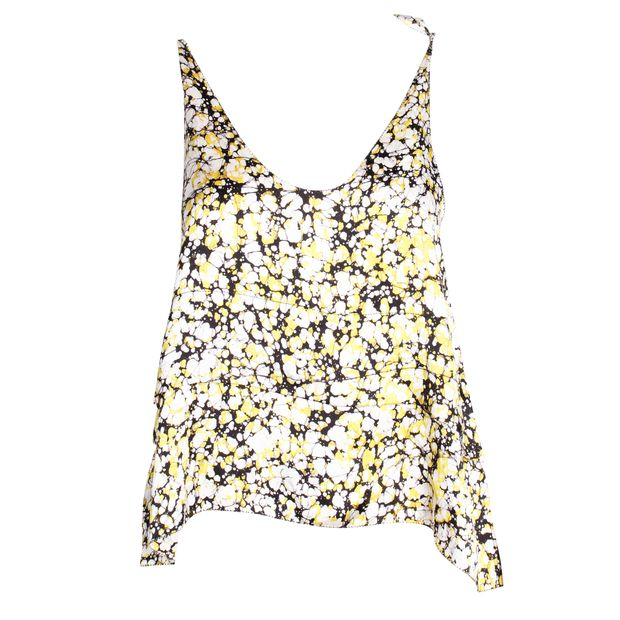 248002bf49184b Yellow Print Silk Top by 3.1 PHILLIP LIM | StyleTribute.com
