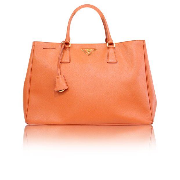 f249287c28 Saffiano Luxe Orange Tote Bag by PRADA