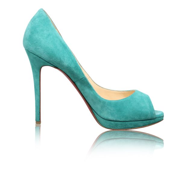 cb178dceaeac Tiffany Green Suede Open Toes Pumps by CHRISTIAN LOUBOUTIN ...