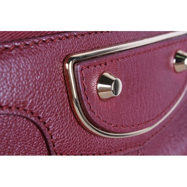 a6f0e1fc20ce BALENCIAGA Burgundy Classic Metallic Edge City Bag 7 thumbnail