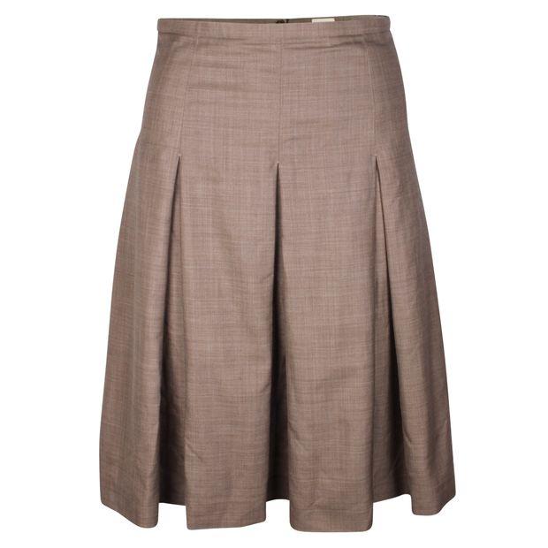 099adfc029b6e6 Wool Pleated Skirt by HERMÈS | StyleTribute.com