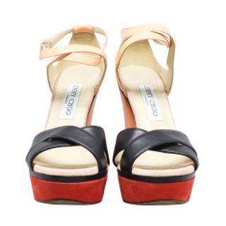 74effdb0902d Jimmy Choo Pink Python Collar Platform Sandals Size 36.5 by JIMMY ...
