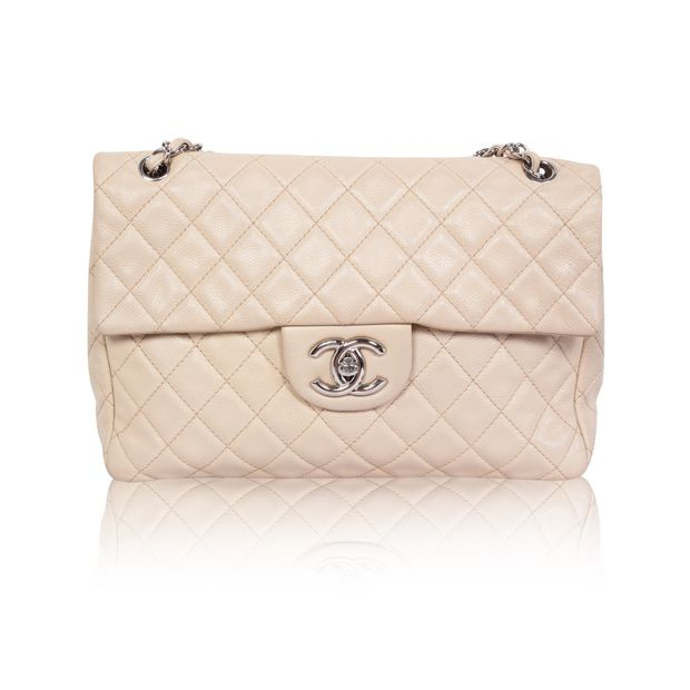 a1030c60cc42 Caviar Jumbo Single Flap by CHANEL | StyleTribute.com