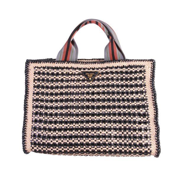 3b6c51bb5caf Raffia Shopper Bag by PRADA   StyleTribute.com