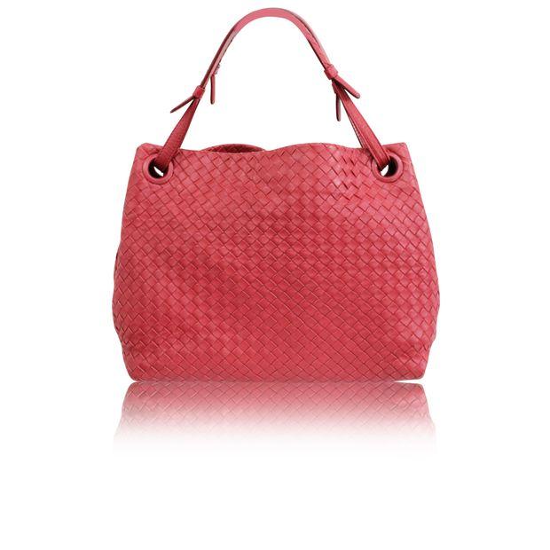1618a1c694 BOTTEGA VENETA Red Intrecciato Shoulder Bag 0 thumbnail