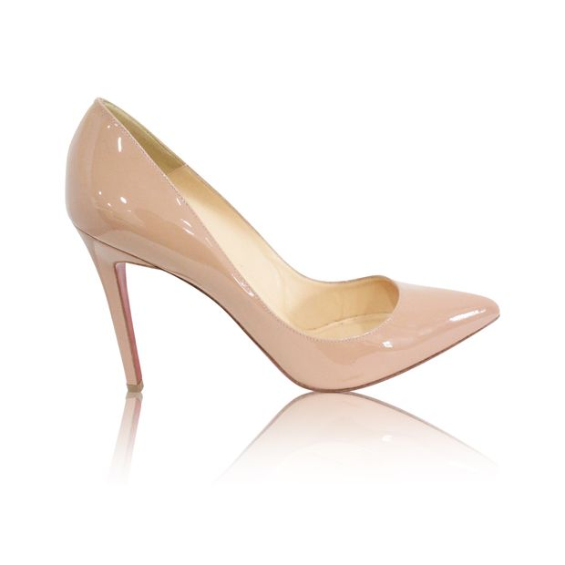 uk availability 1d911 fa263 Patent Pump Heels Nude