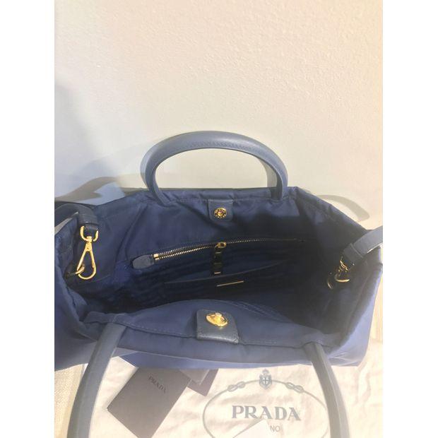 ec7b85e58270 Tessuto Saffiano Royal Blue Tote Bag by PRADA