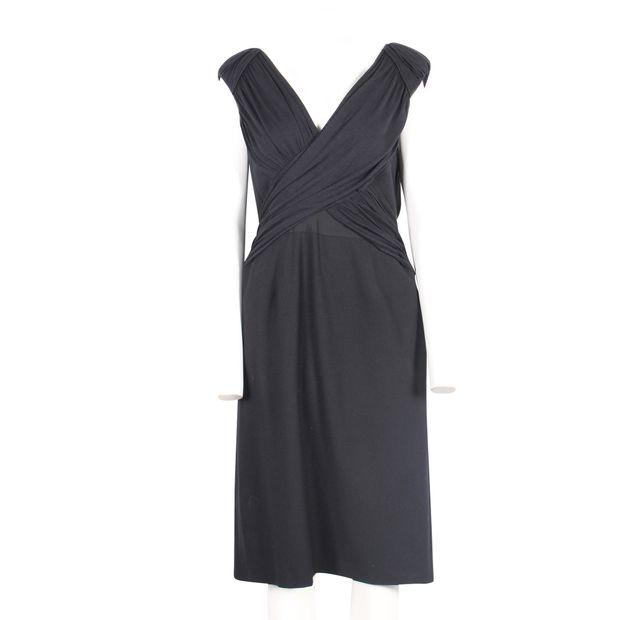 61f76bdbcb2 ALBERTA FERRETTI Draped Top Dress with Pencil Skirt 1 thumbnail