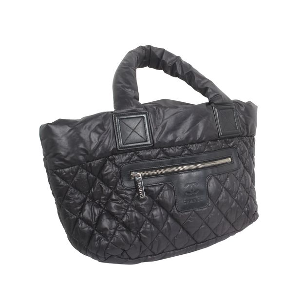 f1233ee87 Quilted Nylon Coco Cocoon Bag by CHANEL | StyleTribute.com