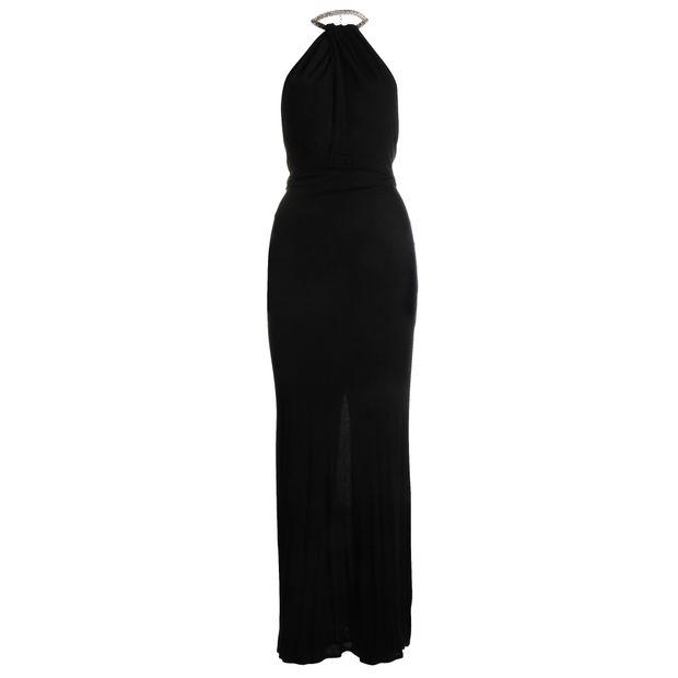 8c1369335 Black Long Dress V-Neck by GUCCI | StyleTribute.com