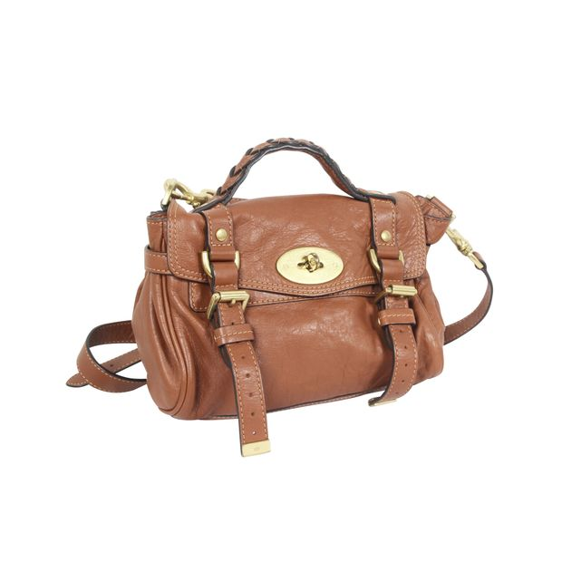 51bb88f72b7 Mini Alexa Bag In Brown by MULBERRY | StyleTribute.com
