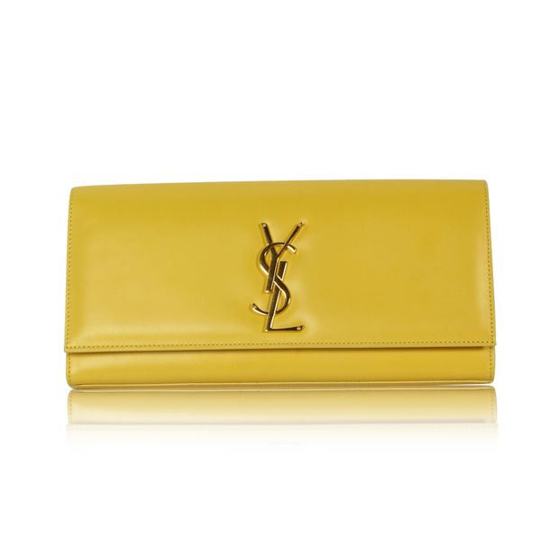 070af03fc0c Kate Clutch In Yellow by YVES SAINT LAURENT | StyleTribute.com