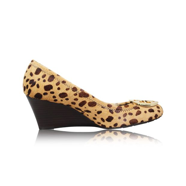 8e99c6e3d Sally Leopard Print Pony Hair Wedges by TORY BURCH