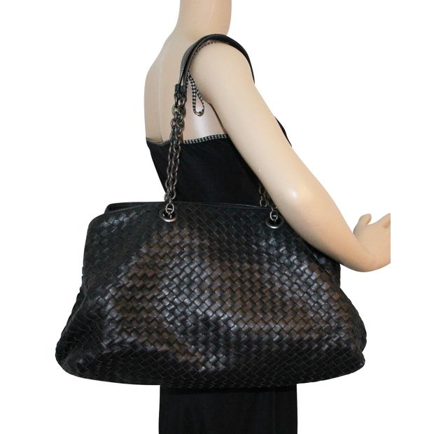 f634b13ca245 Large Shopper Intrecciato Leather Tote by BOTTEGA VENETA ...