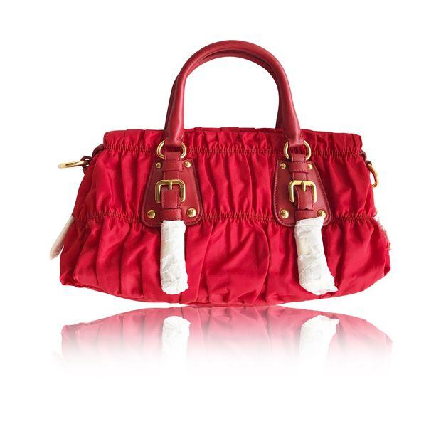2b76043c5d0a Tessuto Gaufre Tote by PRADA | StyleTribute.com