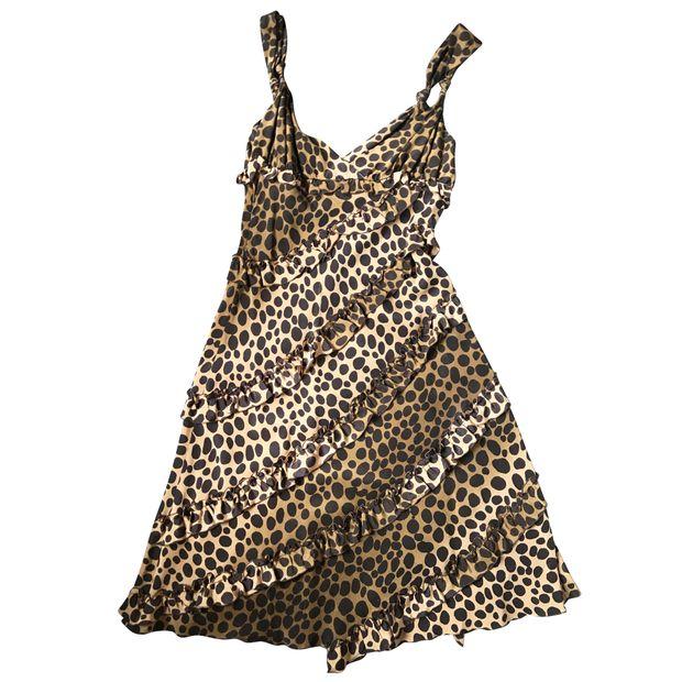 3ed79659d24b Animal Print Silk Dress by MOSCHINO CHEAP AND CHIC | StyleTribute.com