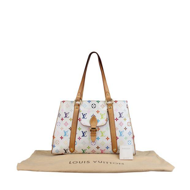 59640a4cbf3b LOUIS VUITTON Louis Vuitton White Monogram Multicolore Aurelia Bag ...