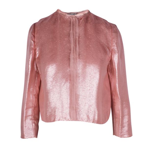 6d91e78374d2e Shiny Pink Jacket by MIU MIU