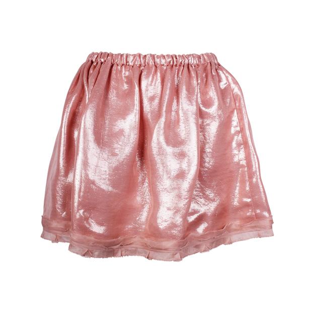 58aff313f2c72 Miu Miu Shiny Pink Flared Skirt by MIU MIU