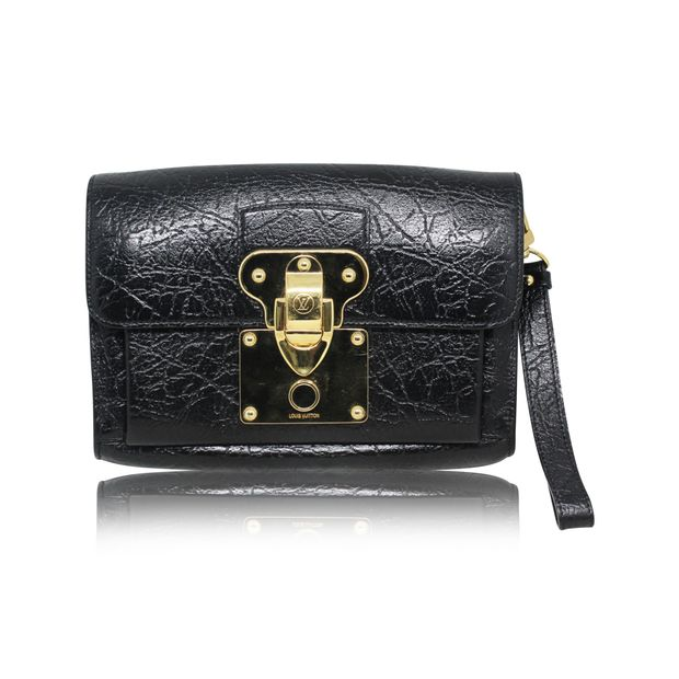 939fd367f7da Black Leather Bag With Gold Shift Lock by LOUIS VUITTON ...