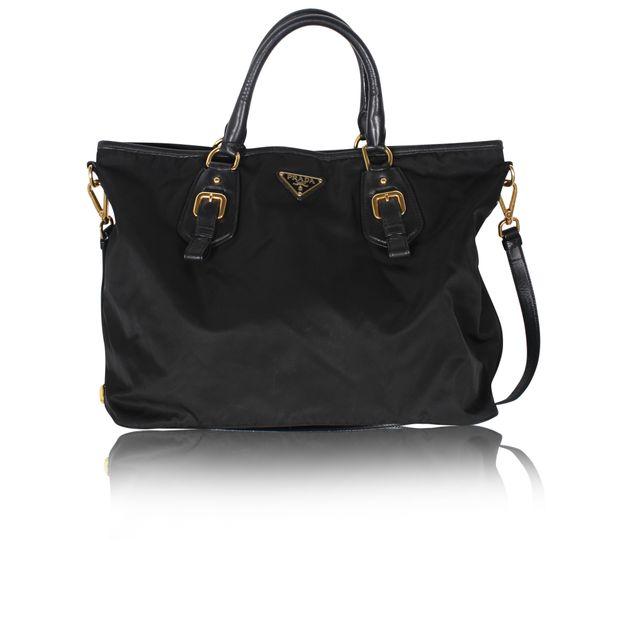 5014b6beee Black Nylon Tessuto Shoulder Bag by PRADA