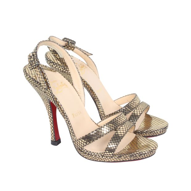 big sale 2b255 62925 Gold Leather Sandals
