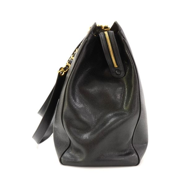 68d8aac4fce7fd Supermodel Black Caviar Leather Shoulder Tote Bag by CHANEL ...