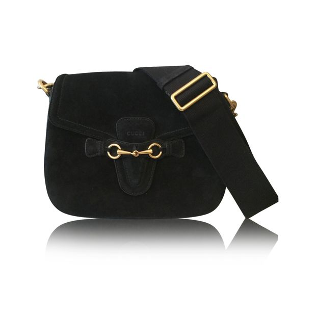 e3b655eaa34 Ladyweb Bag In Black Suede by GUCCI