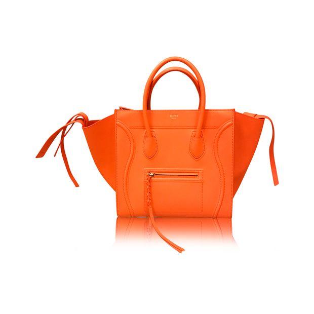5e986093e9 Orange Phantom Bag by CÉLINE