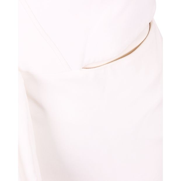 d349b8a1dbe ALEXANDER MCQUEEN Long White Cut Out Stretch Dress 4 thumbnail