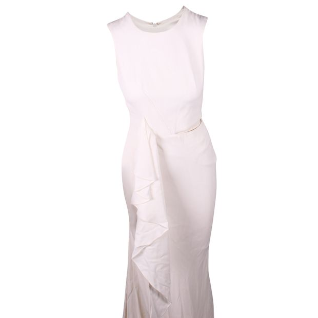 672949247a6 ALEXANDER MCQUEEN Long White Cut Out Stretch Dress 0 thumbnail