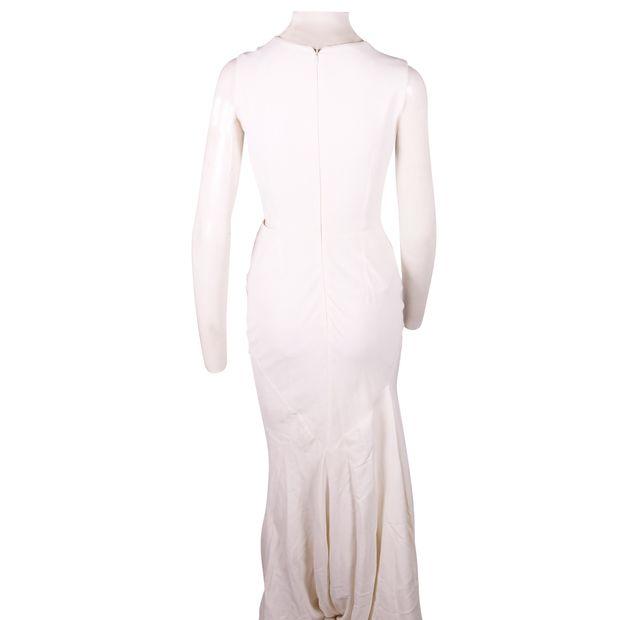 f244d879552 ALEXANDER MCQUEEN Long White Cut Out Stretch Dress 2 thumbnail