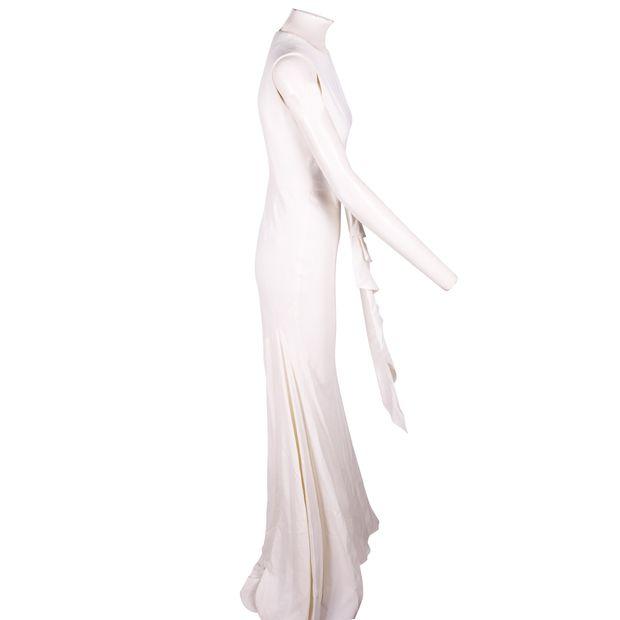 827582f21b8 ALEXANDER MCQUEEN Long White Cut Out Stretch Dress 3 thumbnail