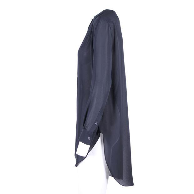7545167ec ACNE STUDIOS Black Sheer Button Down Open Back Shirt Tunic 3 thumbnail