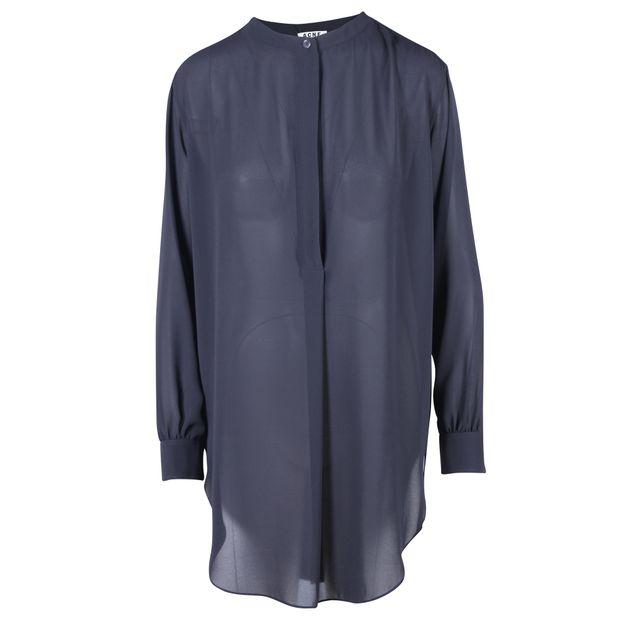 4e6ad6077 Black Sheer Button Down Open Back Shirt Tunic by ACNE STUDIOS ...